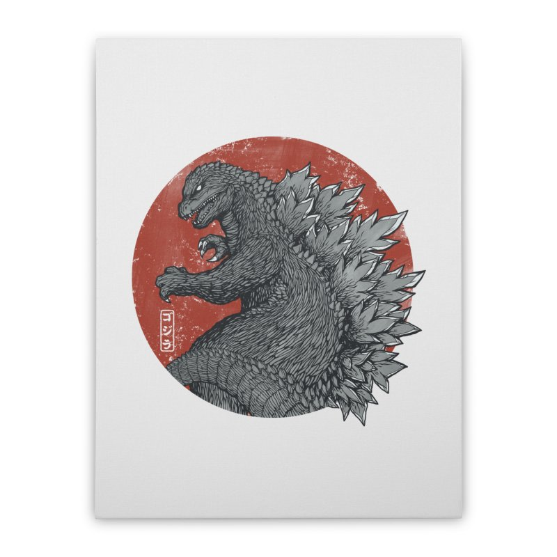 Tokyo Kaiju Home Stretched Canvas by Pigboom's Artist Shop