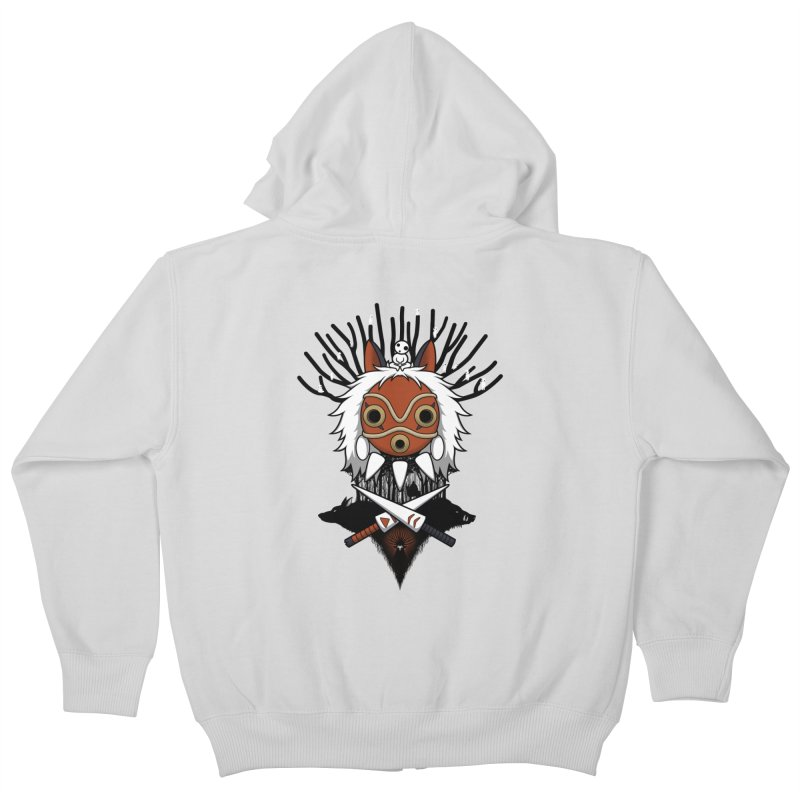 Guardians of the Forest Kids Zip-Up Hoody by Pigboom's Artist Shop
