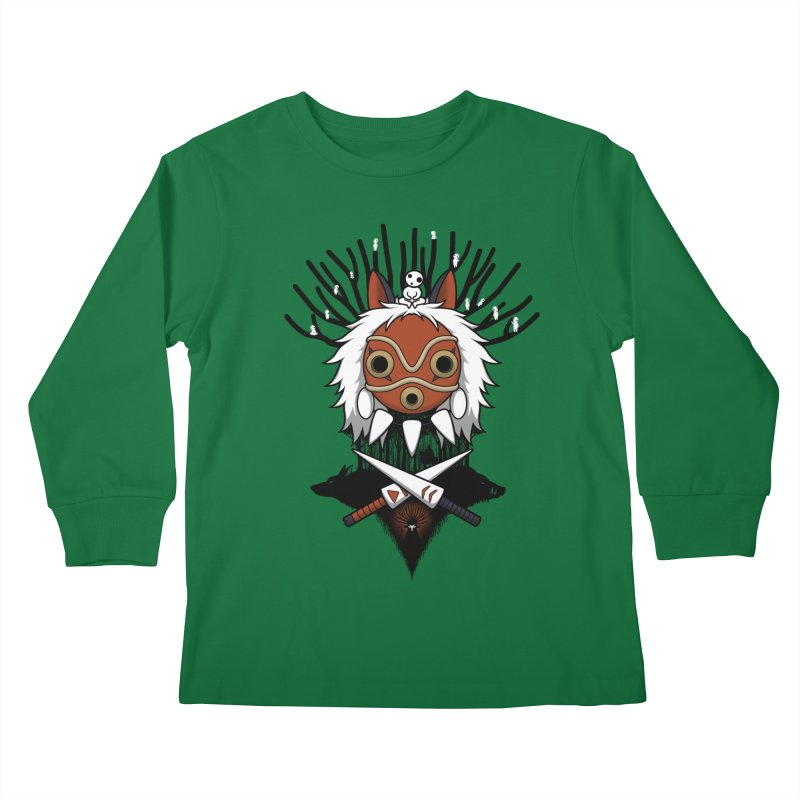 Guardians of the Forest Kids Longsleeve T-Shirt by Pigboom's Artist Shop