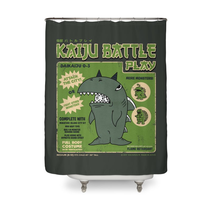 Kaiju Battle Play 03 Home Shower Curtain by Pigboom's Artist Shop