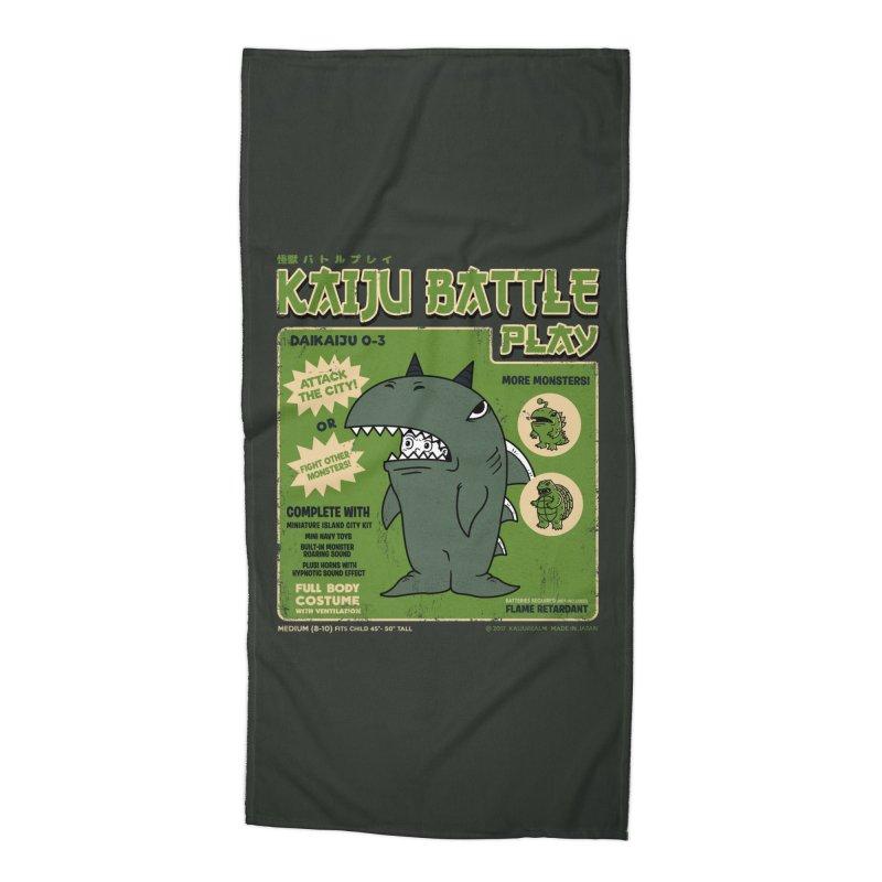 Kaiju Battle Play 03 Accessories Beach Towel by Pigboom's Artist Shop