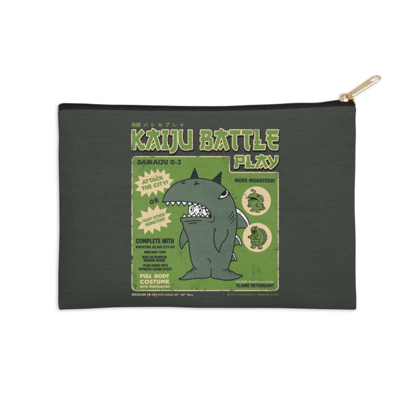 Kaiju Battle Play 03 Accessories Zip Pouch by Pigboom's Artist Shop
