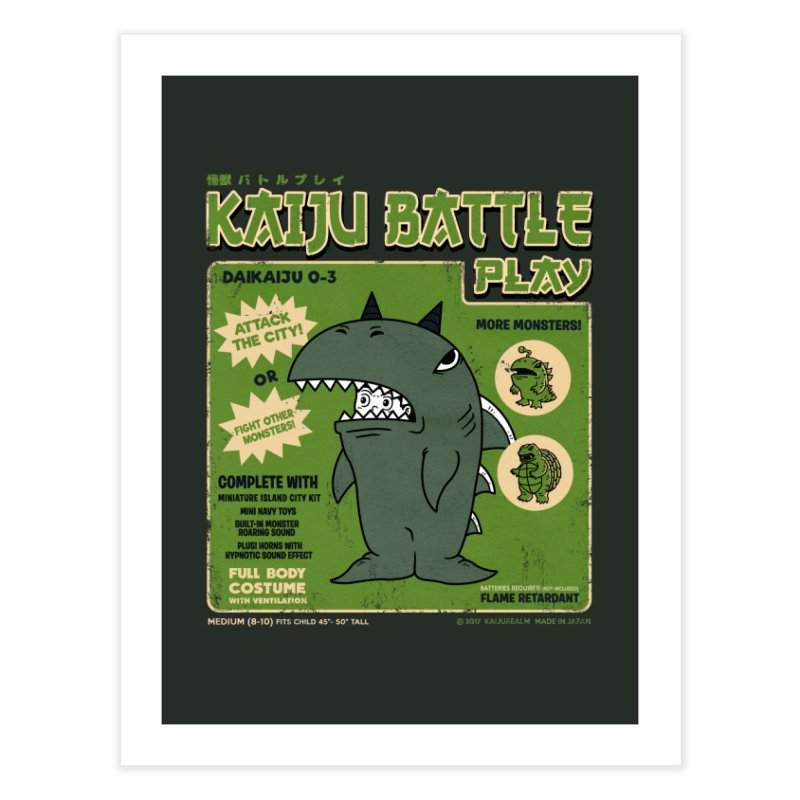 Kaiju Battle Play 03 Home Fine Art Print by Pigboom's Artist Shop