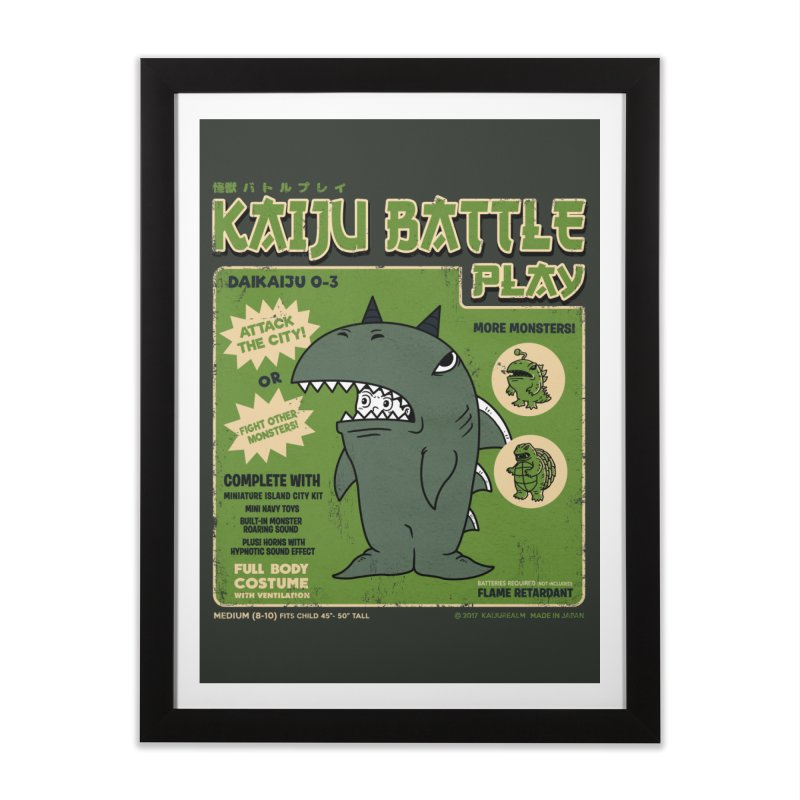 Kaiju Battle Play 03 Home Framed Fine Art Print by Pigboom's Artist Shop