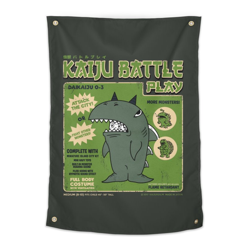 Kaiju Battle Play 03 Home Tapestry by Pigboom's Artist Shop