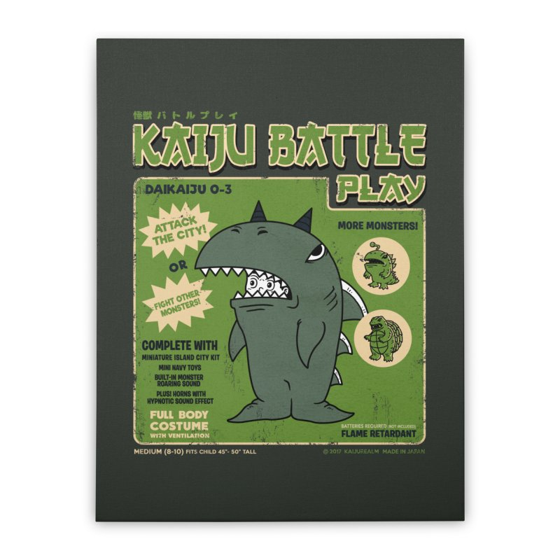 Kaiju Battle Play 03 Home Stretched Canvas by Pigboom's Artist Shop