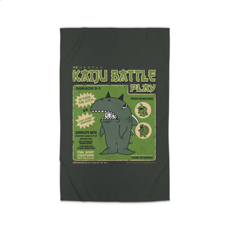 Kaiju Battle Play 03 Home Rug by Pigboom's Artist Shop