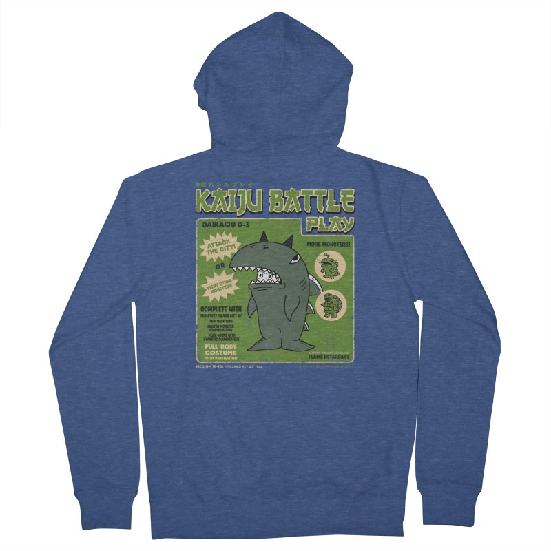 Kaiju Battle Play 03 Men's Zip-Up Hoody by Pigboom's Artist Shop