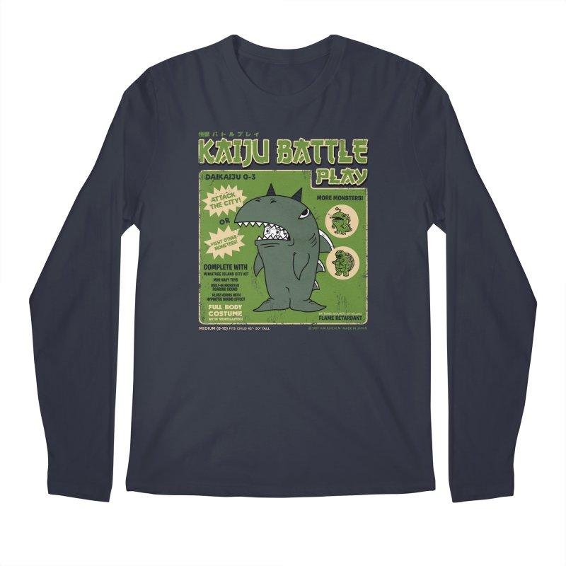 Kaiju Battle Play 03 Men's Longsleeve T-Shirt by Pigboom's Artist Shop