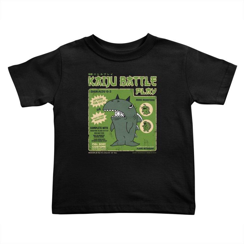 Kaiju Battle Play 03 Kids Toddler T-Shirt by Pigboom's Artist Shop