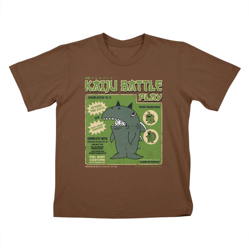 Kaiju Battle Play 03 Kids T-shirt by Pigboom's Artist Shop