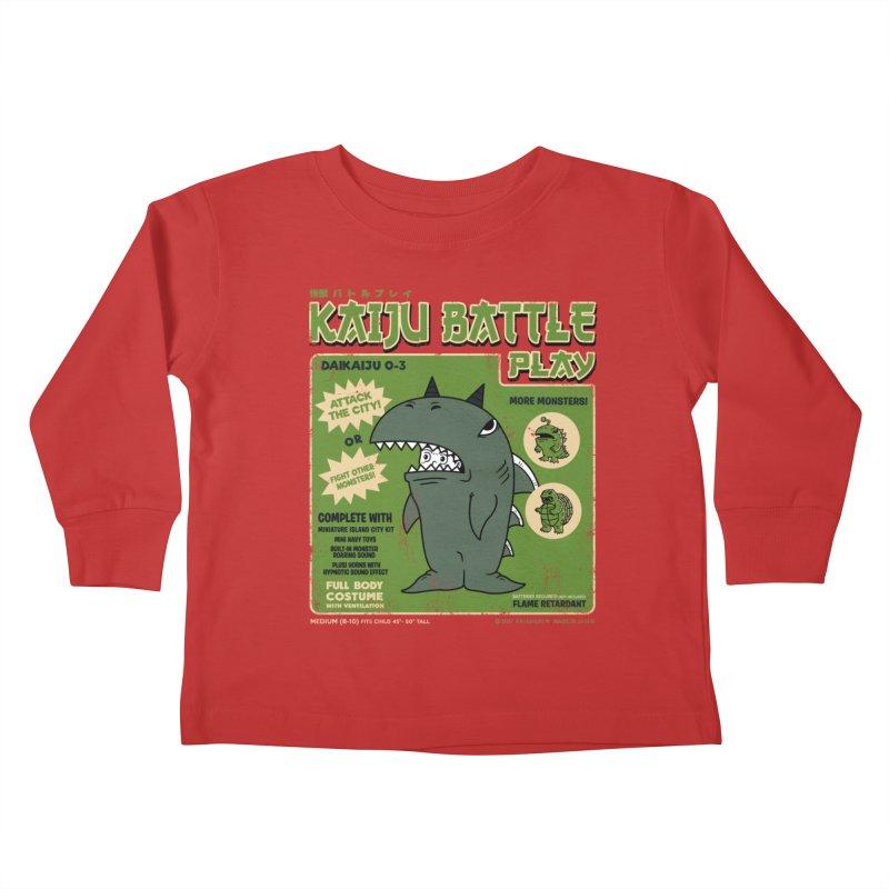 Kaiju Battle Play 03 Kids Toddler Longsleeve T-Shirt by Pigboom's Artist Shop