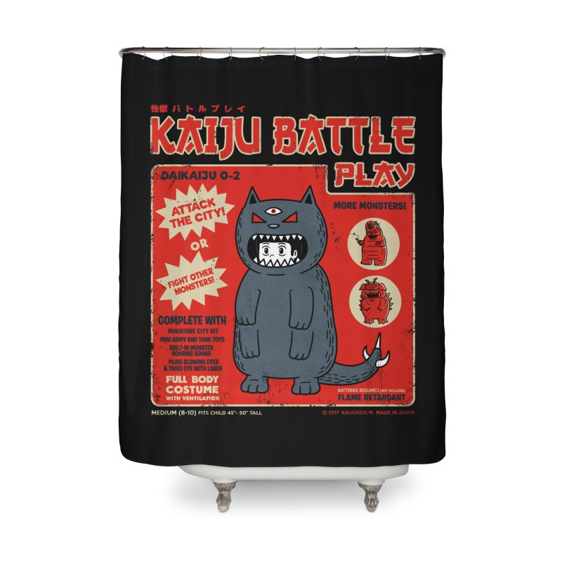 Kaiju Battle Play 02 Home Shower Curtain by Pigboom's Artist Shop