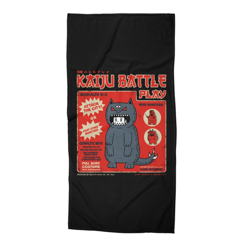 Kaiju Battle Play 02 Accessories Beach Towel by Pigboom's Artist Shop