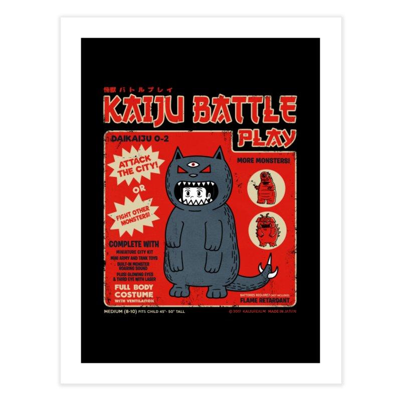 Kaiju Battle Play 02 Home Fine Art Print by Pigboom's Artist Shop