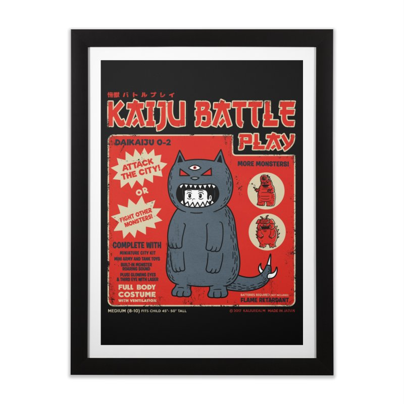 Kaiju Battle Play 02 Home Framed Fine Art Print by Pigboom's Artist Shop