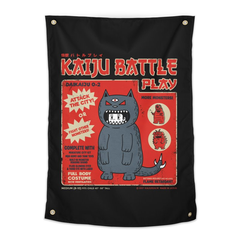 Kaiju Battle Play 02 Home Tapestry by Pigboom's Artist Shop