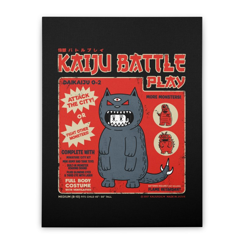 Kaiju Battle Play 02 Home Stretched Canvas by Pigboom's Artist Shop