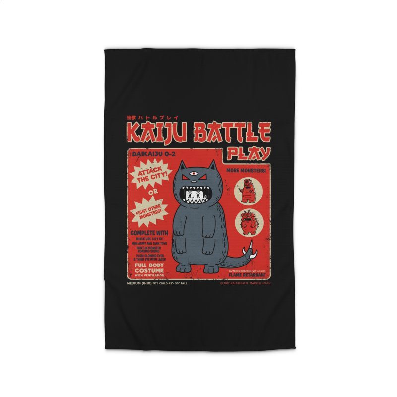 Kaiju Battle Play 02 Home Rug by Pigboom's Artist Shop