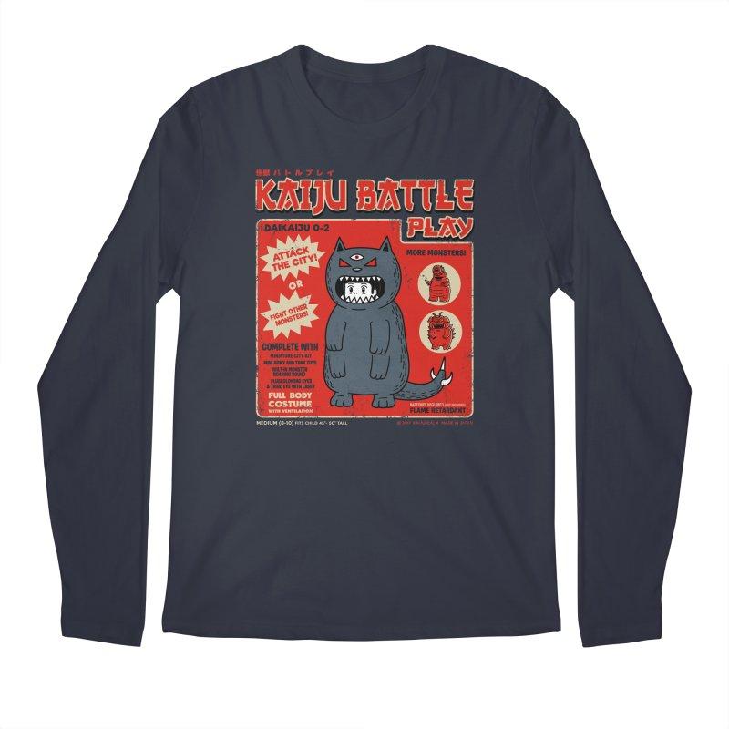 Kaiju Battle Play 02 Men's Longsleeve T-Shirt by Pigboom's Artist Shop