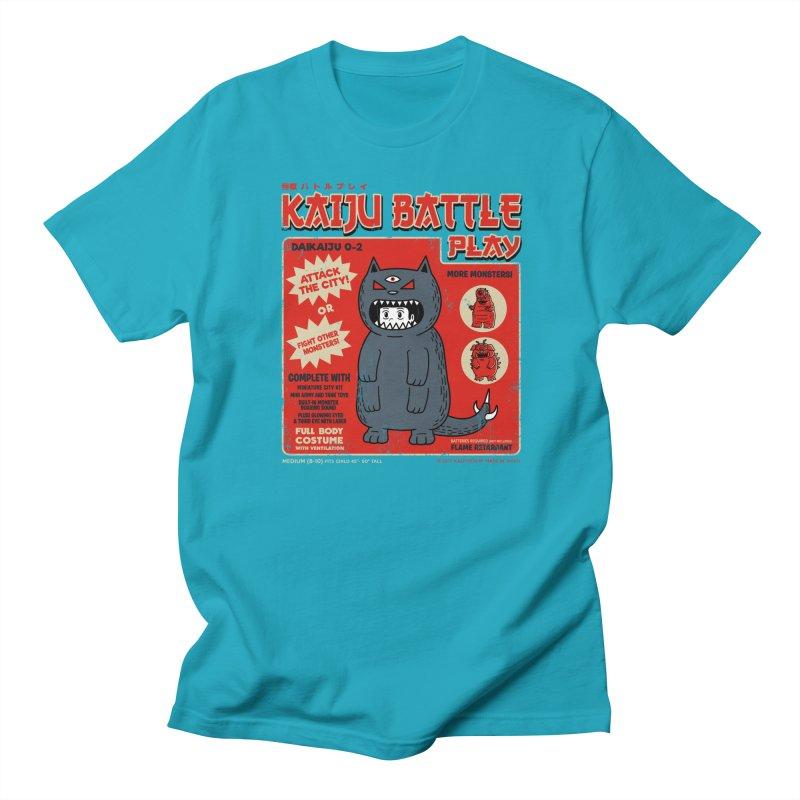 Kaiju Battle Play 02 Men's T-shirt by Pigboom's Artist Shop