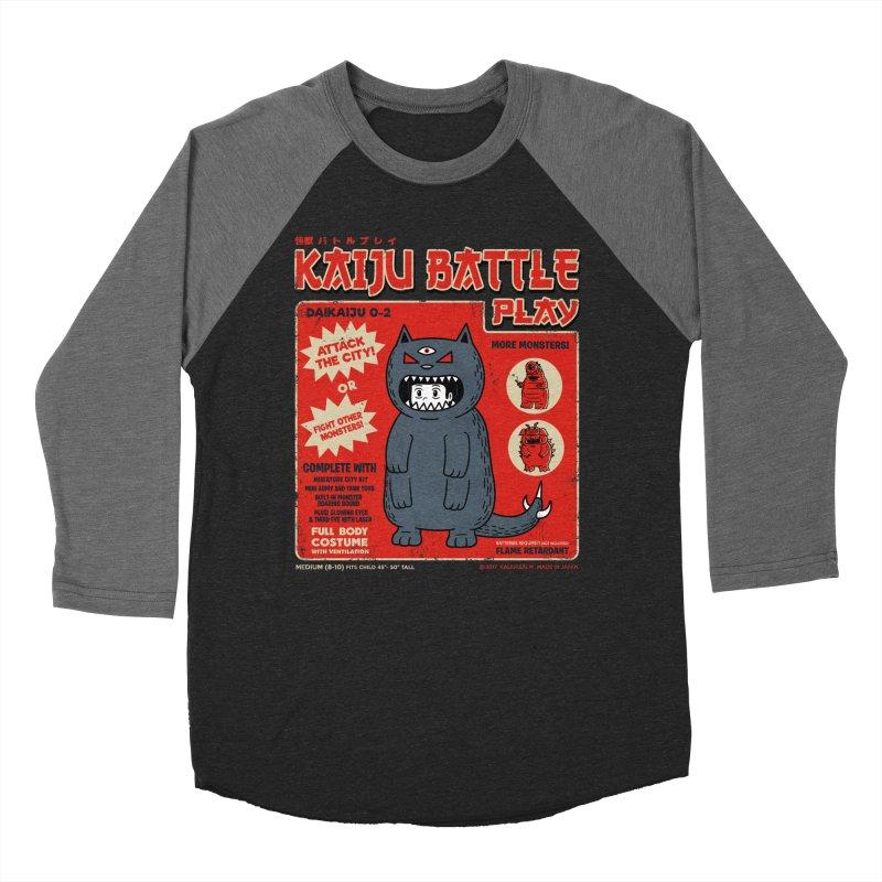 Kaiju Battle Play 02 Men's Baseball Triblend T-Shirt by Pigboom's Artist Shop