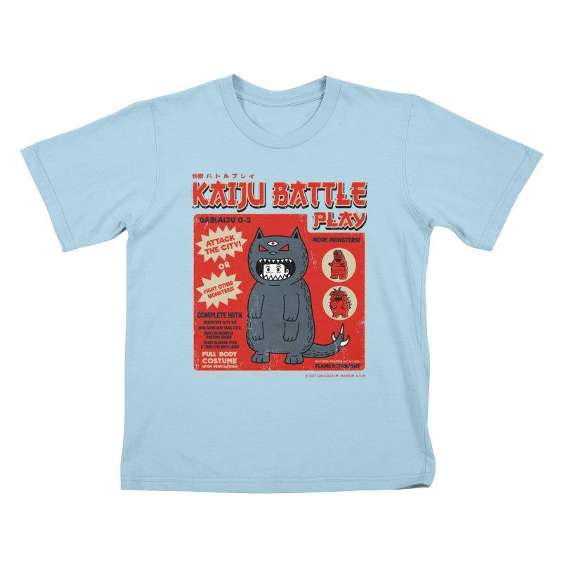 Kaiju Battle Play 02 Kids T-shirt by Pigboom's Artist Shop