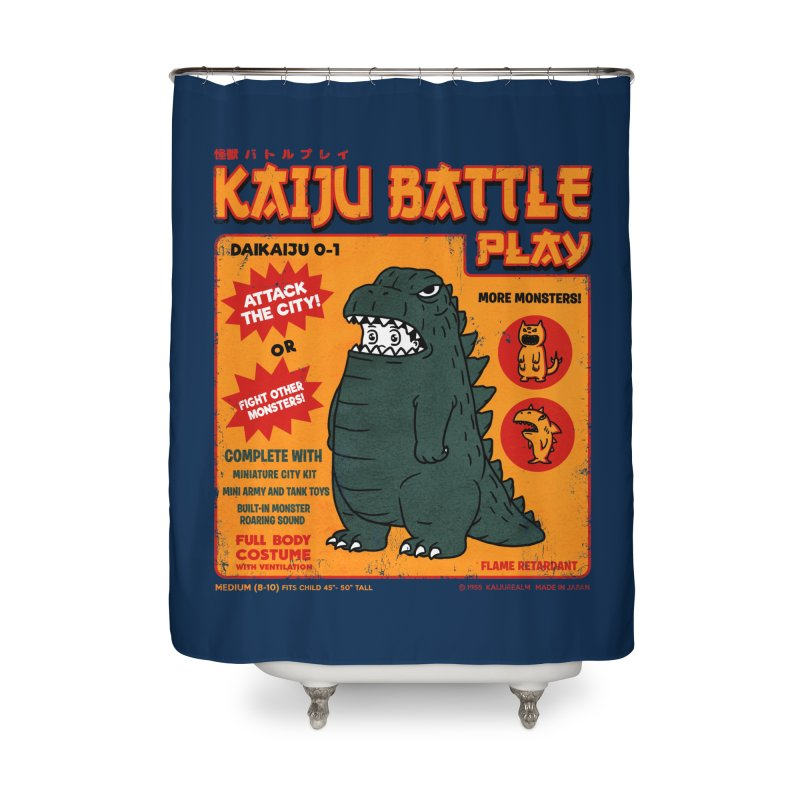 Kaiju Battle Play 01 Home Shower Curtain by Pigboom's Artist Shop