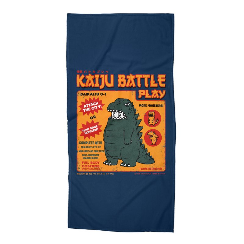Kaiju Battle Play 01 Accessories Beach Towel by Pigboom's Artist Shop