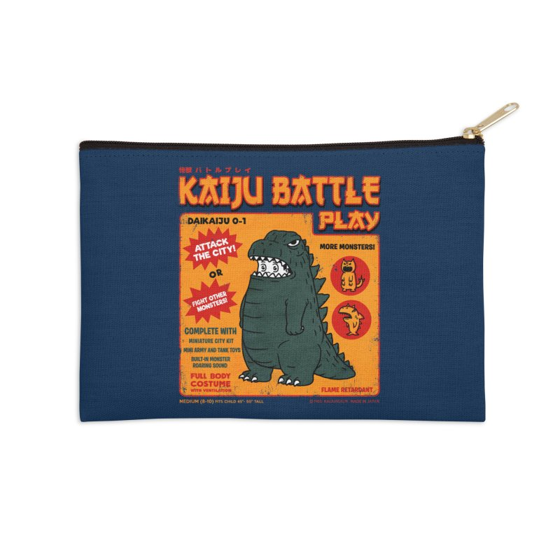 Kaiju Battle Play 01 Accessories Zip Pouch by Pigboom's Artist Shop