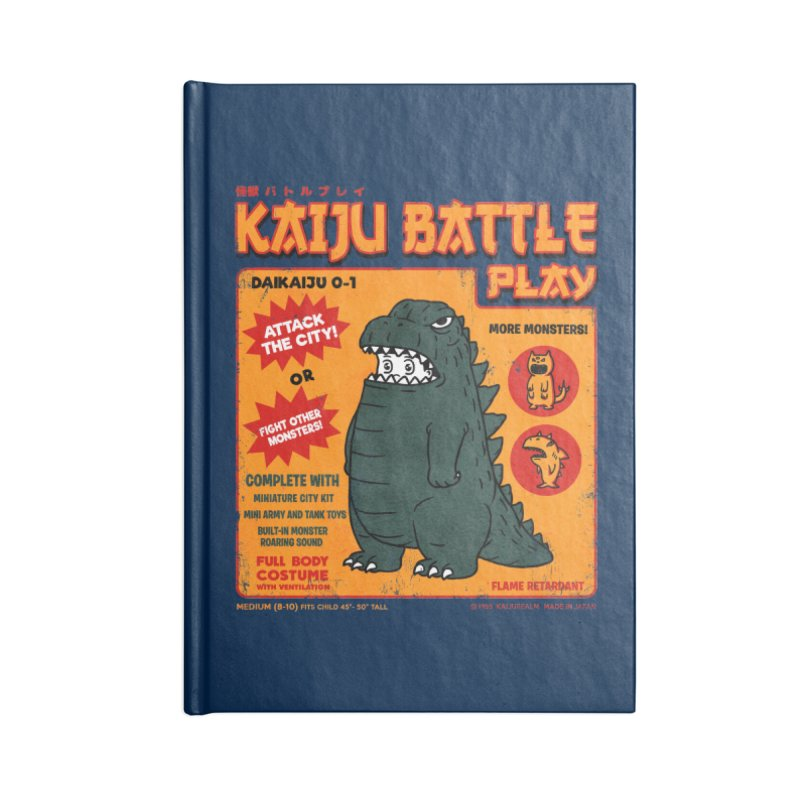 Kaiju Battle Play 01 Accessories Notebook by Pigboom's Artist Shop