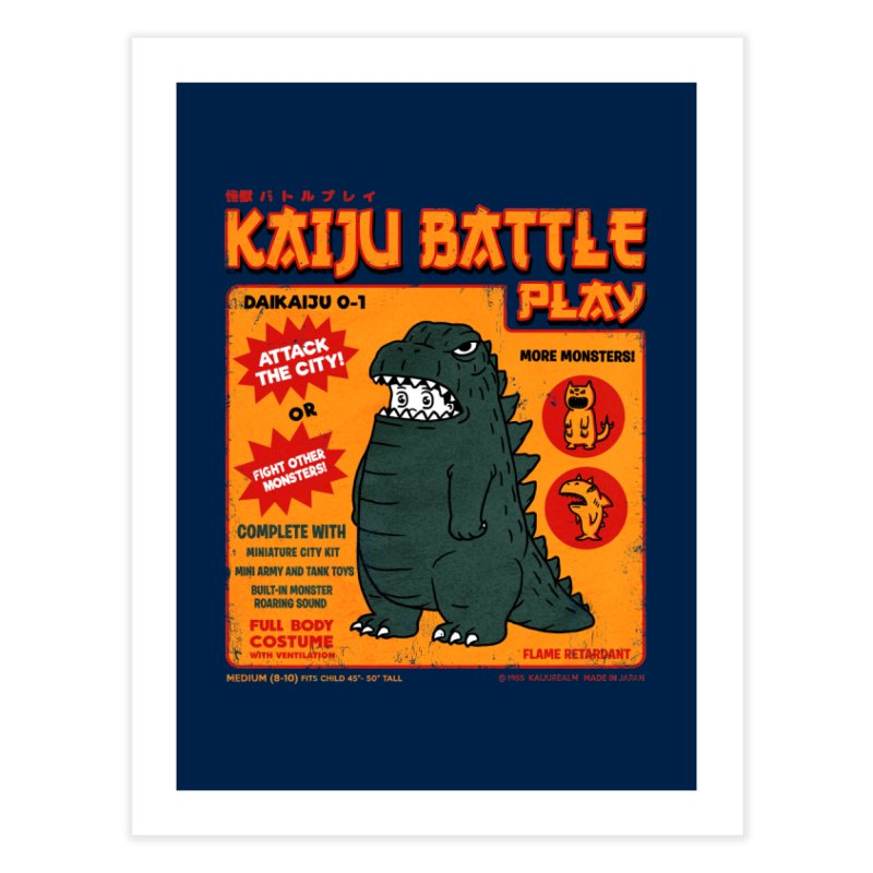 Kaiju Battle Play 01 Home Fine Art Print by Pigboom's Artist Shop
