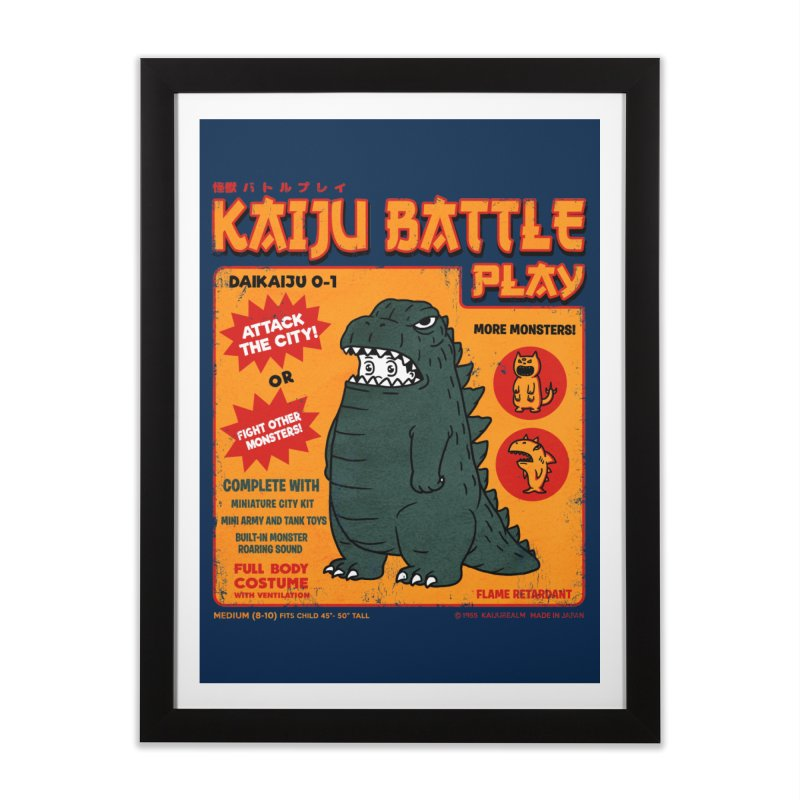 Kaiju Battle Play 01 Home Framed Fine Art Print by Pigboom's Artist Shop