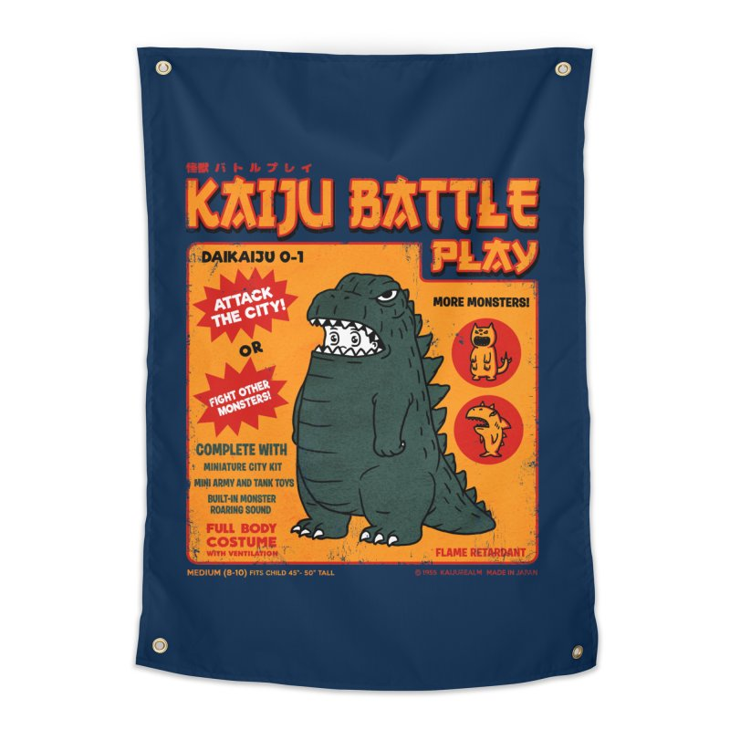 Kaiju Battle Play 01 Home Tapestry by Pigboom's Artist Shop