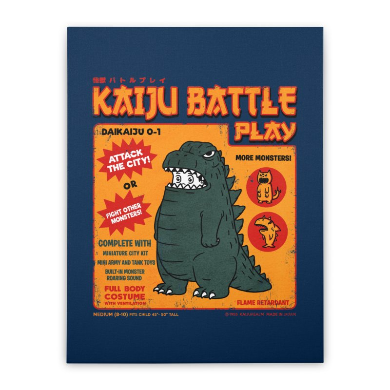 Kaiju Battle Play 01 Home Stretched Canvas by Pigboom's Artist Shop