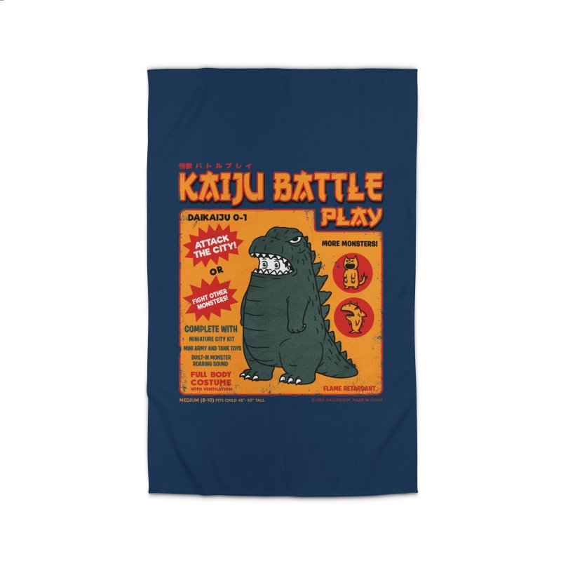 Kaiju Battle Play 01 Home Rug by Pigboom's Artist Shop