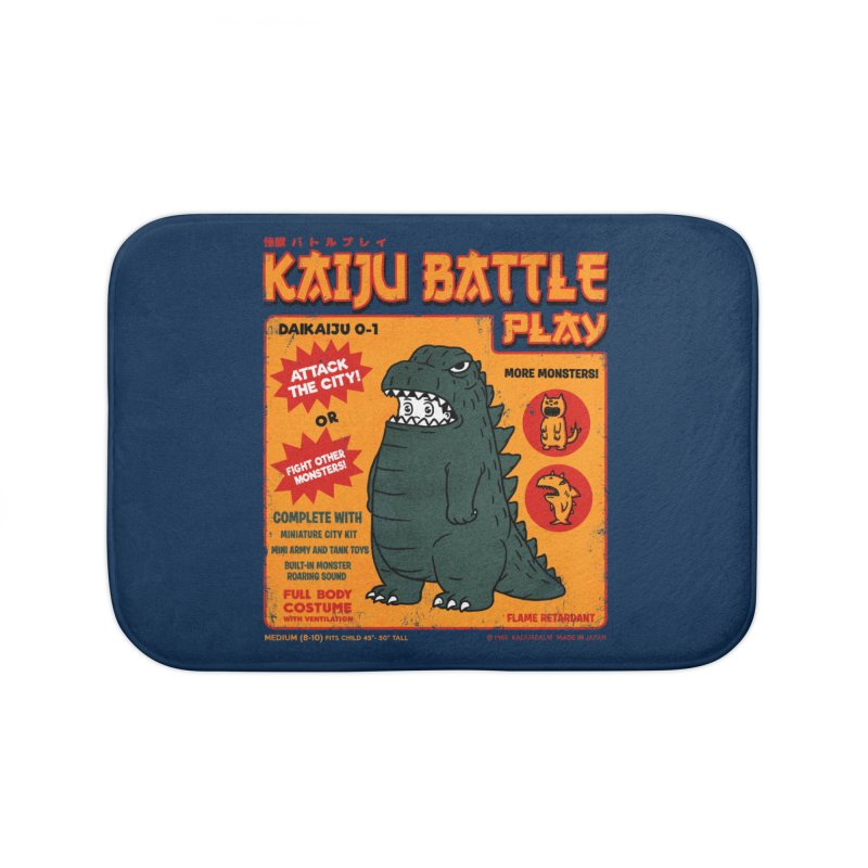 Kaiju Battle Play 01 Home Bath Mat by Pigboom's Artist Shop