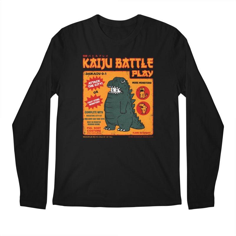 Kaiju Battle Play 01 Men's Longsleeve T-Shirt by Pigboom's Artist Shop
