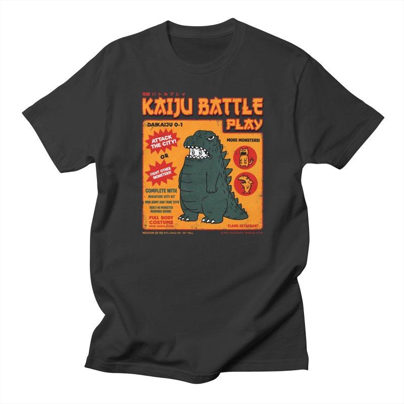 Kaiju Battle Play 01 Men's T-shirt by Pigboom's Artist Shop