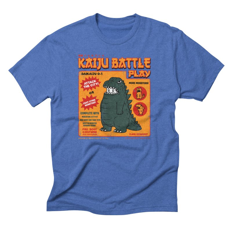 Kaiju Battle Play 01 Men's Triblend T-shirt by Pigboom's Artist Shop