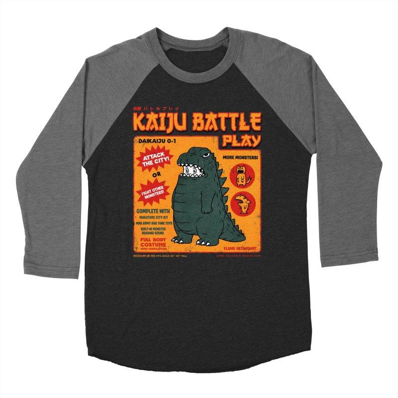 Kaiju Battle Play 01 Men's Baseball Triblend T-Shirt by Pigboom's Artist Shop