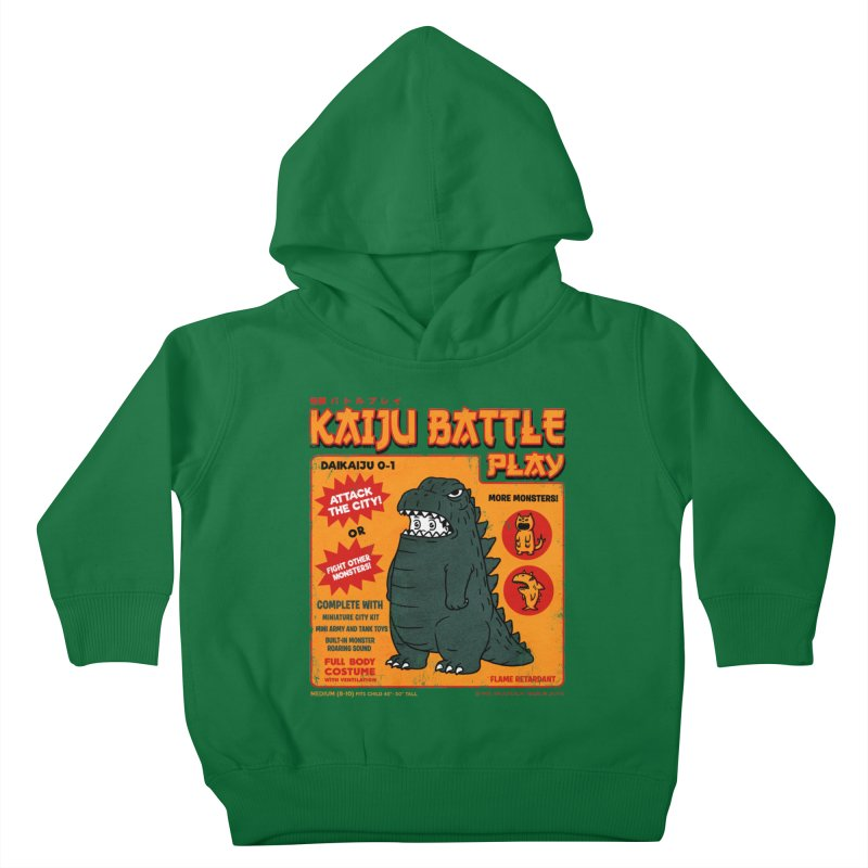 Kaiju Battle Play 01 Kids Toddler Pullover Hoody by Pigboom's Artist Shop