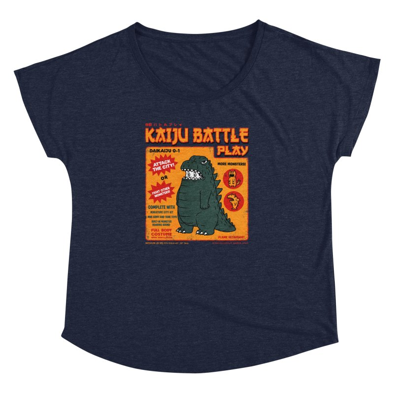 Kaiju Battle Play 01 Women's Dolman by Pigboom's Artist Shop