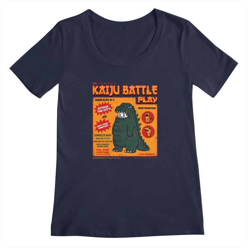 Kaiju Battle Play 01 Women's Scoopneck by Pigboom's Artist Shop