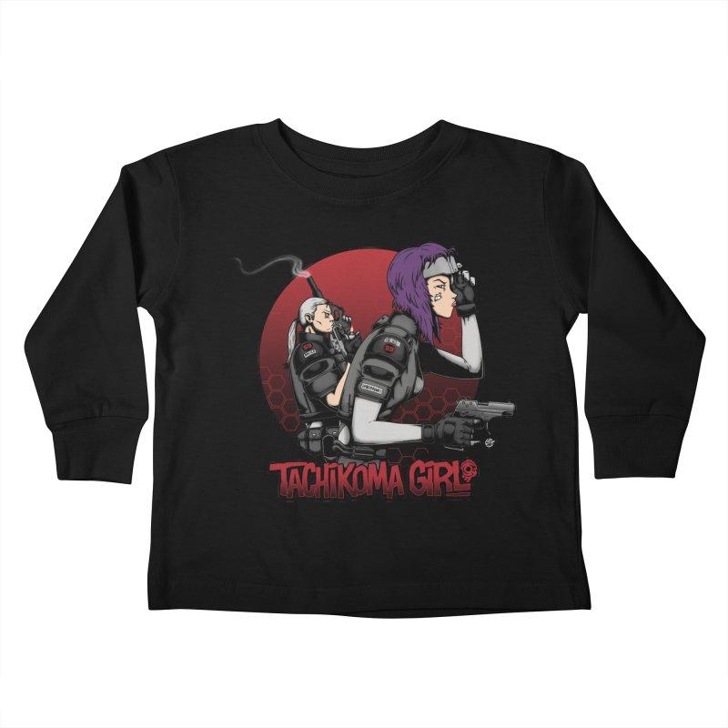 Tachikoma Girl 2.0 Kids Toddler Longsleeve T-Shirt by Pigboom's Artist Shop