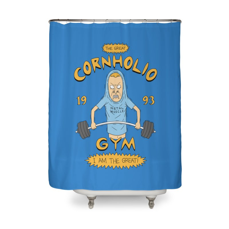 Great Cornholio's Gym Home Shower Curtain by Pigboom's Artist Shop