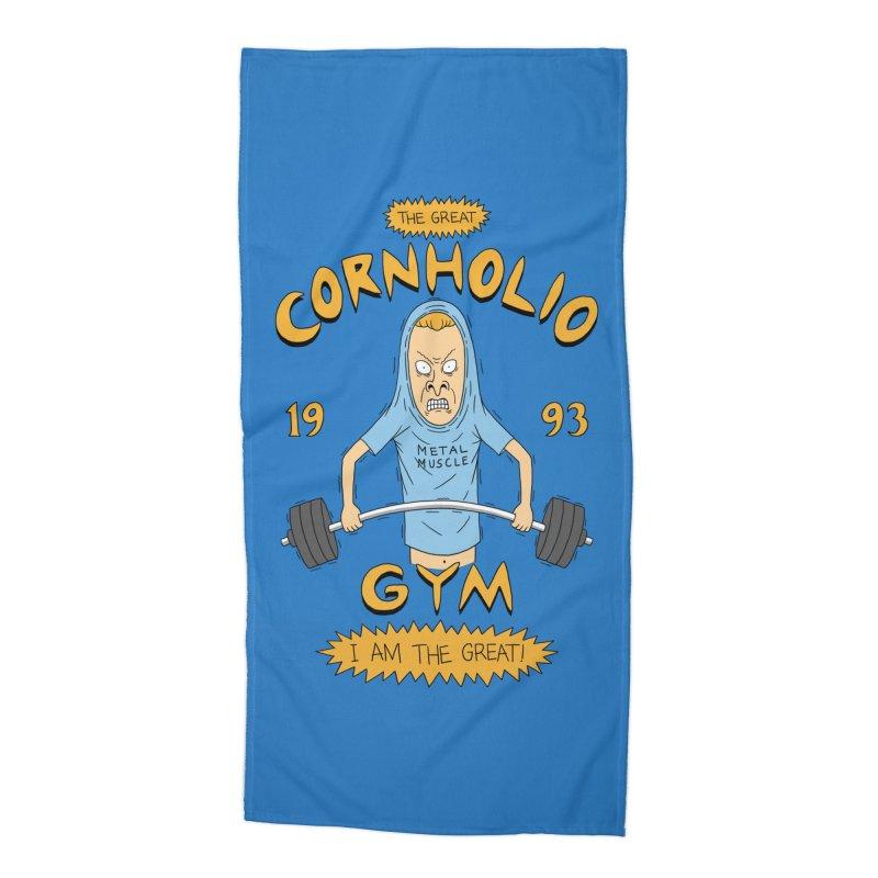 Great Cornholio's Gym Accessories Beach Towel by Pigboom's Artist Shop