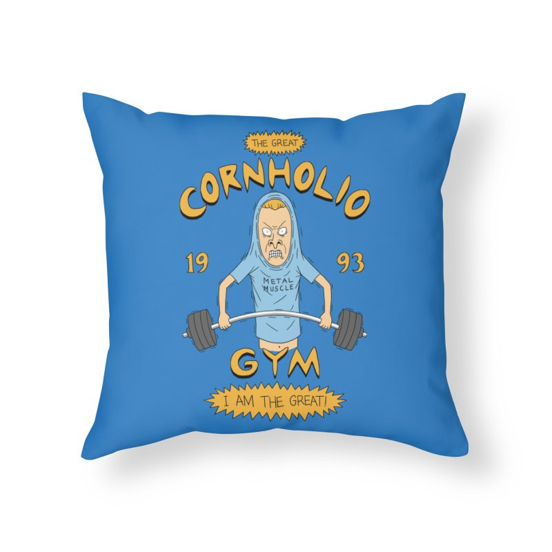 Great Cornholio's Gym Home Throw Pillow by Pigboom's Artist Shop