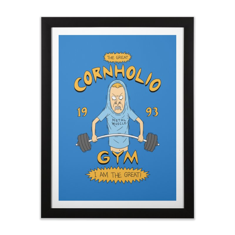 Great Cornholio's Gym Home Framed Fine Art Print by Pigboom's Artist Shop