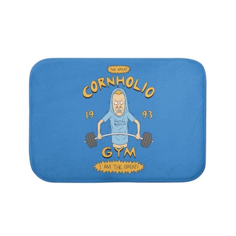 Great Cornholio's Gym Home Bath Mat by Pigboom's Artist Shop